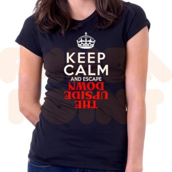 maglietta donna stranger things keep calm